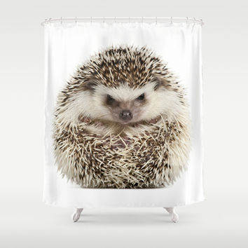 Hedgehog ball Shower Curtain by Life on White | Society6