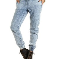 "Refuge ""The Jogger"" Acid Wash Pants by Charlotte Russe"