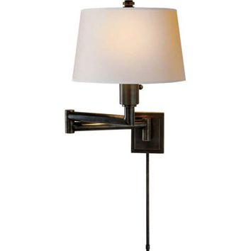 Visual Comfort and Company CHD5106BZ-NP Bronze Chunky Swing Arm Wall Light
