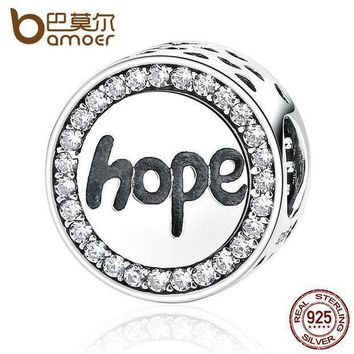 Bamoer Real 925 Sterling Silver 'hope' Letter Alphabet Charm Charms Fit Bracelets & Necklaces For Women Fashion Jewelry Scc088