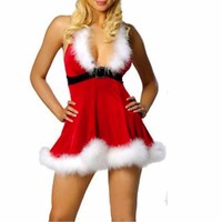 Women Sexy Christmas Festival  Red Costumes