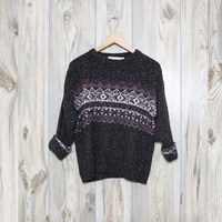 Vintage Aztec Nordic Cosby Sweater