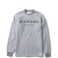 Diamond Supply Co. - Stone Cut L/S Football Top - Salt