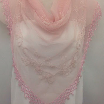 Spring Wedding Shawl, Pastel Pink shawl, Beaded Wedding Shawl  Elegant wedding Cover Up, Gift for Anniversary, Pink Piano Shawl Bridal Cover