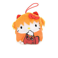 Evangelion x Hello Kitty Asuka Langley Hand Ver Mini Plush Toy Dangler