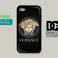 Versace Wood Carbonate Phone Cases