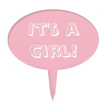 It's a Girl Pink Cake Topper