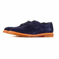 Navy Suede Lace Up Shoes - Dress Shoes - Shoes and Accessories