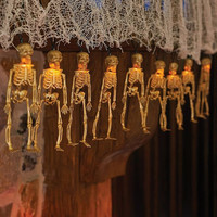 Battery Operated Halloween Skeleton LED String Lights