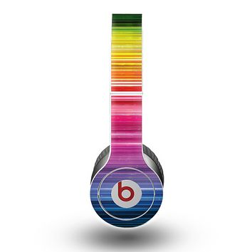 The Straight Abstract Vector Color-Strands Skin for the Beats by Dre Original Solo-Solo HD Headphones