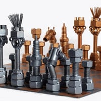 Chess Set - Metaldiorama Metal Art