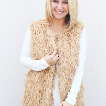 Let It Snow Vest {Tan}