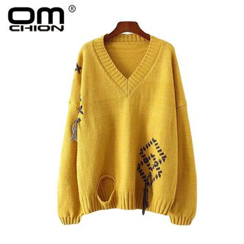 Women Sweaters And Pullovers 2017 Winter V Neck Velvet Lace Cross Casual Knitted Warm Sweater Holes Lazy Jumper