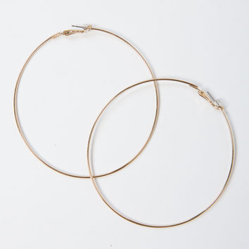 Classic Large Hoop Earrings