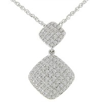 1/3ct tw Diamond Fashion Necklace in 14K White Gold - Diamond Necklaces & Pendants - Jewelry & Gifts