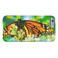 Cute, chic orange monarch butterfly close-up photo barely there iPhone 6 case
