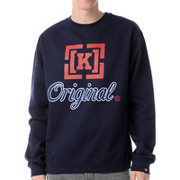 KR3W Original 3 Navy Blue Crew Neck Sweatshirt