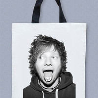Ed Sheeran Bag Big Bag Rock Bag Music Bag Rock Canvas Tote Bag Music Tote Bag Diaper Bag Shopping Bag Market Bag Cream Bag