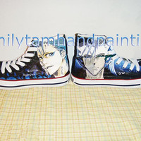 Bleach Converse Custom Converse Sneakers Grimmjow Jeagerjaques Kicks, Special Birthday or Christmas Gift for Friends, Kids or Couples