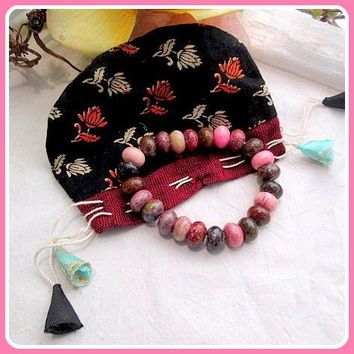 """Nurturing Peace & Grounding"" Meditation Power Bracelet & Pouch"