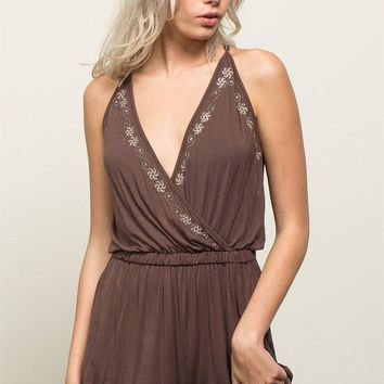 Embroidered Kori Casual Bohemian Romper