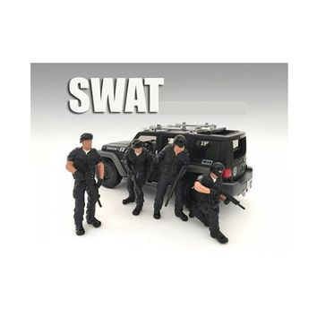 SWAT Team 4 Piece Figure Set For 1:24 Scale Models by American Diorama
