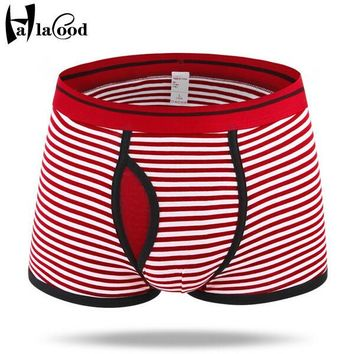 New Hot Sell Male Mr Fashion Sexy Cotton Underwear Men's Boxer Shorts Mans Household Independent Pouch Split Underant Large Fat