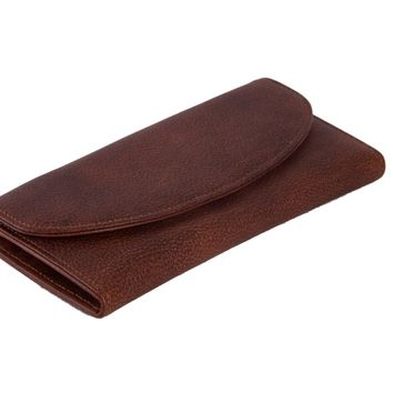 BLUESEBE UNISEX HANDMADE GENUINE LEATHER LONG WALLET 9066