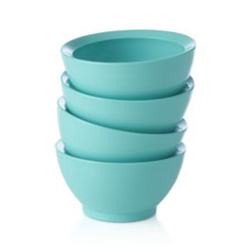 Calibowl ® Nonslip Aqua Sky Prep Bowls (Set of 4)