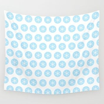 Snowflakes Snowflakes Everywhere! Wall Tapestry by Xiari