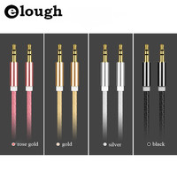 Elough 3.5 mm Jack Aux Cable for iPhone Samsung MP3 3.5mm Car Audio Cable wire Colorful Nylon Headphone Beats Speaker AUX Cord