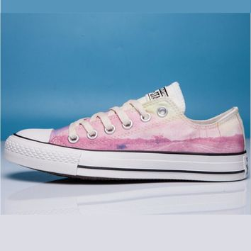 Converse Print All Star Sneakers for Unisex Hight tops sports Leisure Comfort Shoes Pink low tops