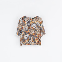 FLORAL PRINT CROP TOP - Shirts - Woman | ZARA United States