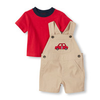 Baby Boys Truck Shortall And Tee Set | The Children's Place