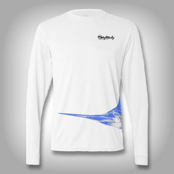 Fish Wrap Shirt - Swordfish - Performance Shirts - Fishing Shirt