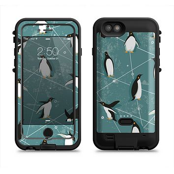The Vintage Penguin Blue Collage Apple iPhone 6/6s LifeProof Fre POWER Case Skin Set