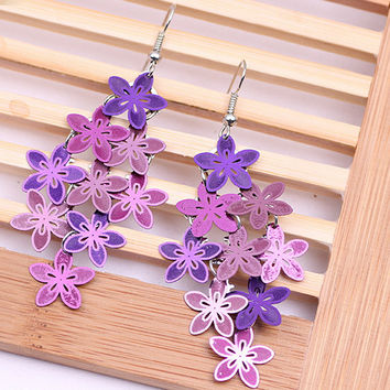 Best violet flower jewelry products on wanelo pameng new fashion violet blue color bohemian jewelry drop flowe negle