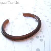 Chocolate brown resin bangle bracelet cuff jewelry , thin skinny open bracelet cuff Australia resin jewellery delicate dainty feminine