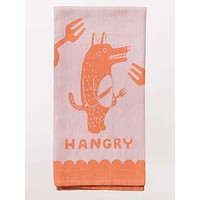 Hangry Dish Towel in Angry Orange Monster