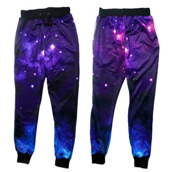 2016 joggers pants 3D graphic print galaxy space sport running sweat pants sweatpants for men/women hip hop trousers [9222385796]
