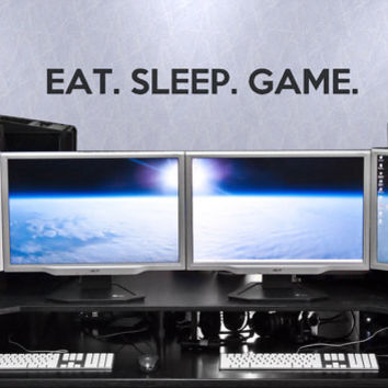 Eat. Sleep. Game. Decal / Gaming Decal / Gaming Wall Decal
