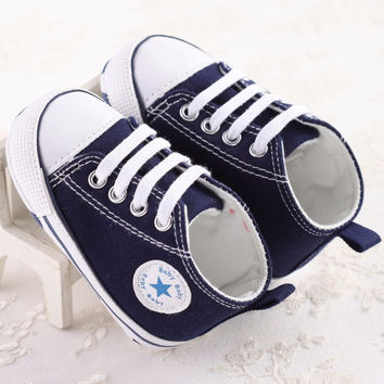 Newborn Baby Shoes Infant Baby First Walkers Spring Autumn Boys Girls Shoes Toddler Sports Sneakers Soft Soled Anti-slip Shoes