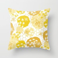 Queen Bee Throw Pillow by Heather Dutton