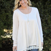 A Little Means A Lot Top-Ivory