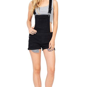 Harbor Denim Short Overalls