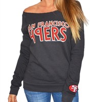 San Francisco 49ers Off Shoulder Womens Sweatshirt | SportyThreads.com