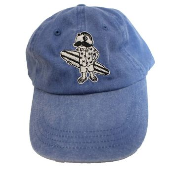 Natty Boh Surfer Dude in White (Deck Blue) / Baseball Hat