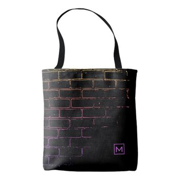 Monogram Black Brick Tracer Tote Bag