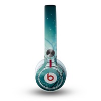 The Electric Teal Volts Skin for the Beats by Dre Mixr Headphones