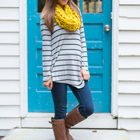Side To Side Tunic, Gray/Black